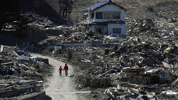 Aftermath: Miyako, in Iwate prefecture after the tsunami in March 2011. Photo: Reuters